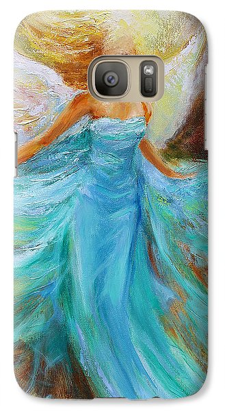 Galaxy Case featuring the painting Angelic Rising by Jennifer Beaudet