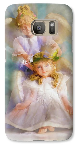 Galaxy Case featuring the digital art Angelic by Tom Druin