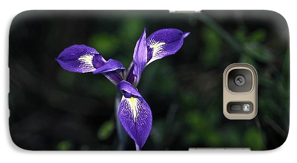 Galaxy Case featuring the photograph Angelpod Blue Flag by Sally Weigand