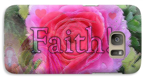Galaxy Case featuring the photograph Angels Pink Rose Of Faith by Barbara Tristan