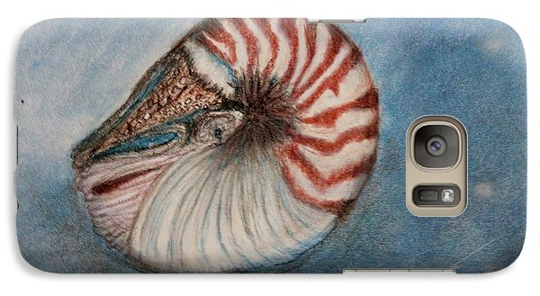 Galaxy Case featuring the painting Angel's Seashell  by Kim Nelson