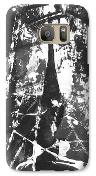 Galaxy Case featuring the painting Anger by Carol Rashawnna Williams