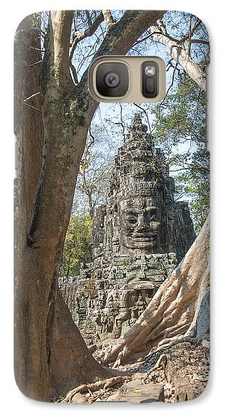 Galaxy Case featuring the photograph Angkor Thom South Gate by Rob Hemphill