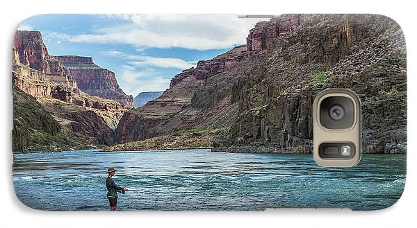 Galaxy Case featuring the photograph Angling On The Colorado by Alan Toepfer