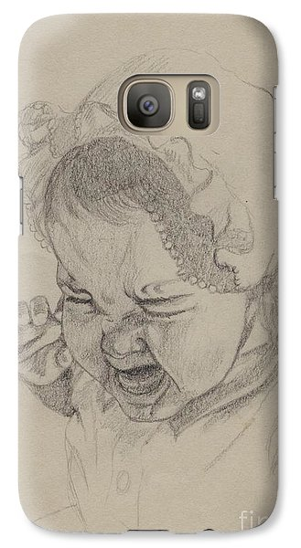 Galaxy Case featuring the drawing Angry by Annemeet Hasidi- van der Leij