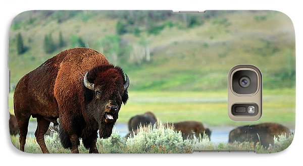 Bison Galaxy S7 Case - Angry Buffalo by Todd Klassy