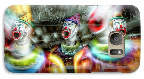 Galaxy Case featuring the photograph Angry Clowns by Wayne Sherriff