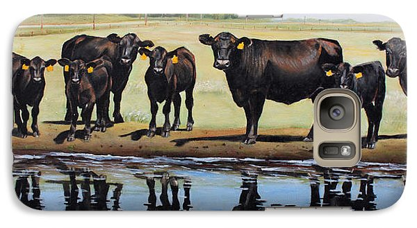 Pasture Galaxy S7 Case - Angus Reflections by Toni Grote