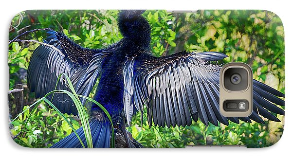 Galaxy Case featuring the photograph Anhinga Blue Eye by Deborah Benoit