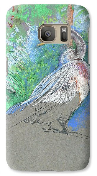 Anhinga Galaxy S7 Case - Anhinga Sarasota Plein Air by Catherine Twomey