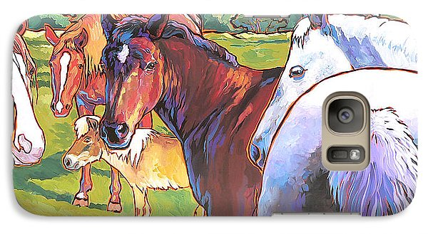 Galaxy Case featuring the painting Anjelica Huston's Horses by Nadi Spencer