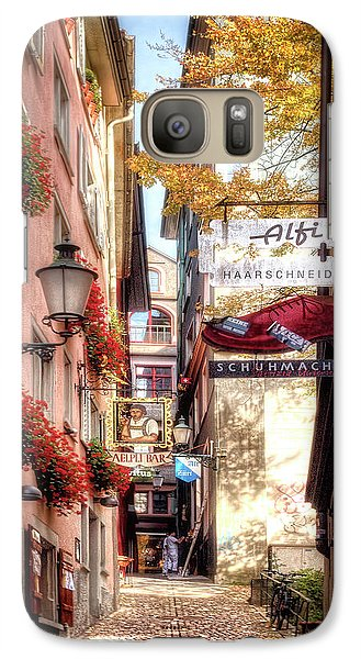 Galaxy Case featuring the photograph Ankengasse Street Zurich by Jim Hill