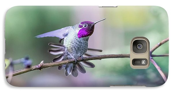 Galaxy Case featuring the photograph Anna's Hummingbird Stretching by Kathy King
