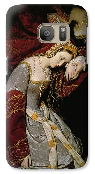 Anne Boleyn In The Tower Galaxy Case by Edouard Cibot