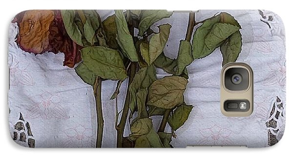 Galaxy Case featuring the digital art Anniversary Roses by Alexis Rotella
