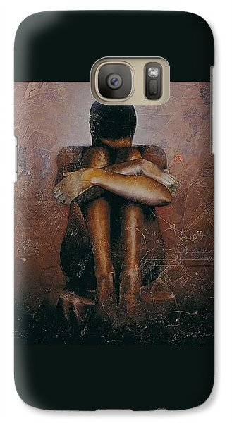 Galaxy Case featuring the painting Annunciation / Mary by Christopher Marion Thomas