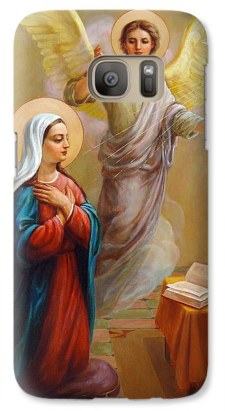 Galaxy Case featuring the painting Annunciation To The Blessed Virgin Mary by Svitozar Nenyuk