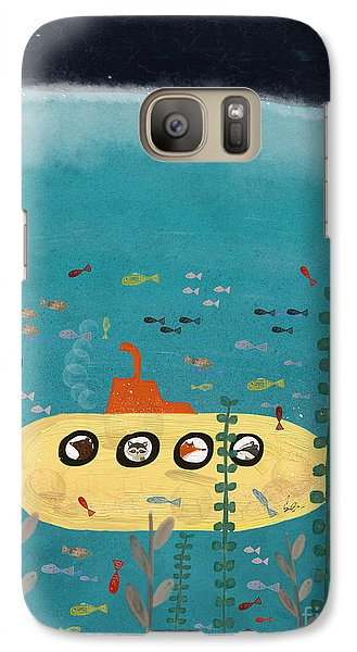 Galaxy Case featuring the painting Another Little Advenutre by Bri B