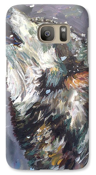 Galaxy Case featuring the painting Another Night Alone by Koro Arandia