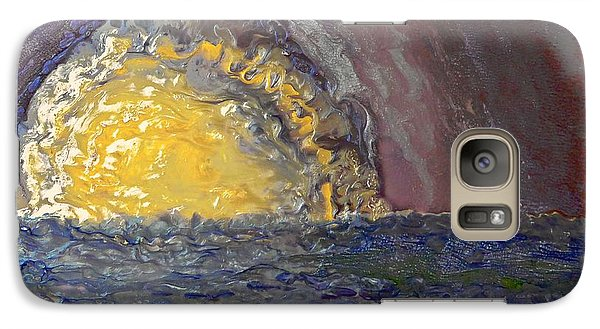 Galaxy Case featuring the painting Another Purple Sunset by AmaS Art