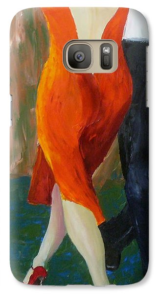 Galaxy Case featuring the painting Another Tango Twirl by Keith Thue
