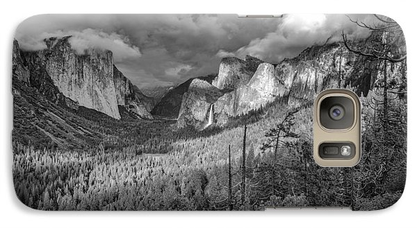 Galaxy Case featuring the photograph Ansel Adams Inspired Yosemite Tunnel View by Scott McGuire