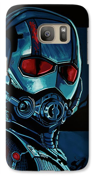 Ant Man Painting Galaxy S7 Case by Paul Meijering