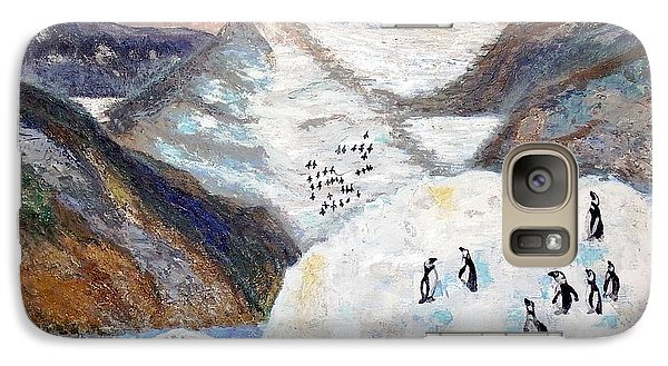 Galaxy Case featuring the painting Antarctica1 by Vicky Tarcau