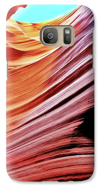 Galaxy Case featuring the photograph Antelope Canyon by Lorella Schoales