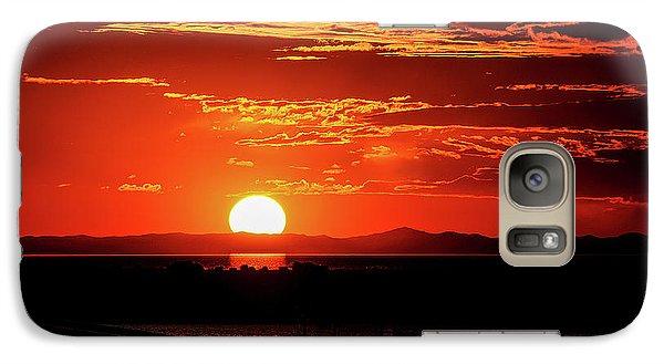 Antelope Island Marina Sunset Galaxy S7 Case