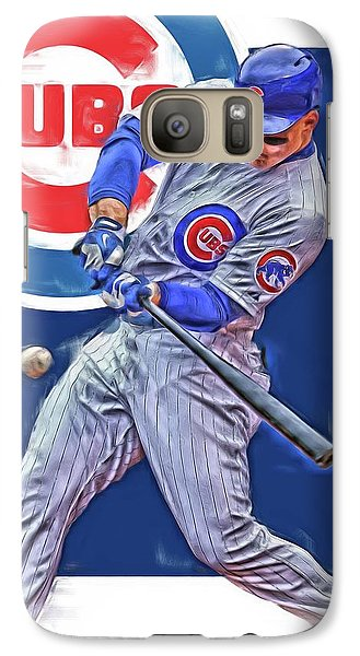Chicago Cubs Galaxy S7 Case - Anthony Rizzo Chicago Cubs Oil Art by Joe Hamilton