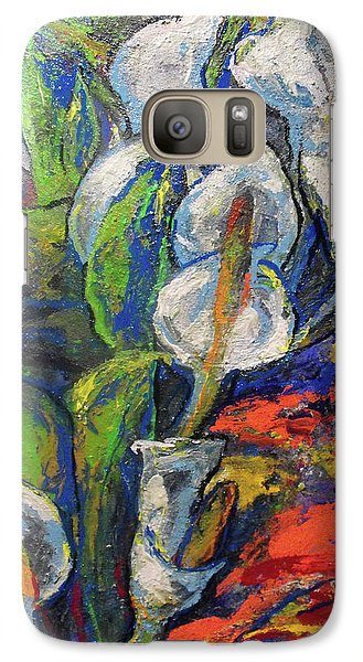Galaxy Case featuring the painting Anthuriums by Koro Arandia