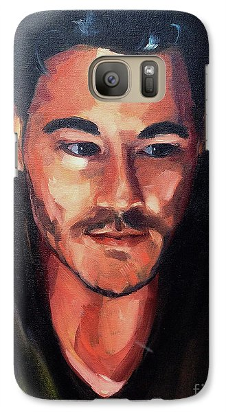 Galaxy Case featuring the painting Anticipation by Diane Daigle