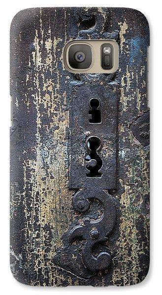 Galaxy Case featuring the photograph Antique Door Lock Detail by Elena Elisseeva