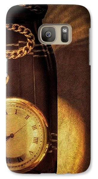 Antique Pocket Watch In A Bottle Galaxy S7 Case by Susan Candelario