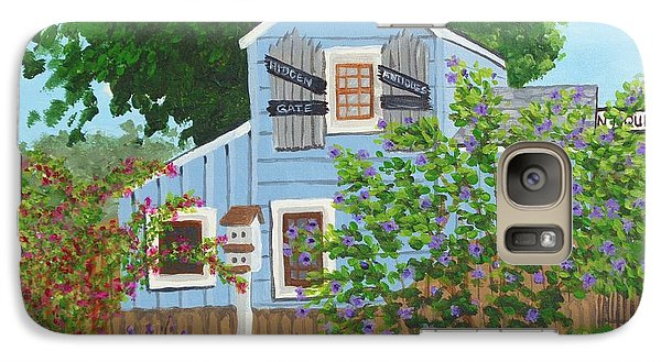 Galaxy Case featuring the painting Antique Shop, Cambria Ca by Katherine Young-Beck