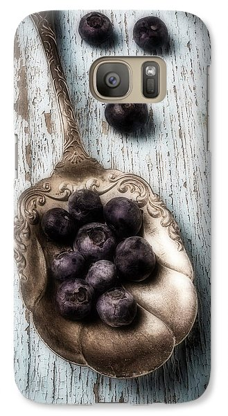Antique Spoon And Buleberries Galaxy Case by Garry Gay