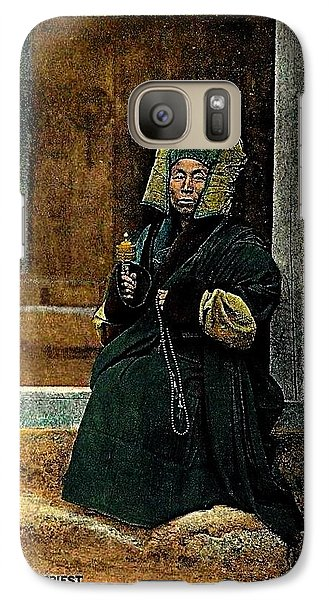 Galaxy Case featuring the painting Antique Tibetan Lama by Peter Gumaer Ogden