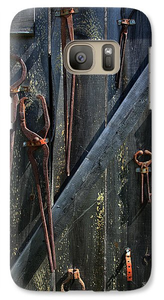 Galaxy Case featuring the photograph Antique Tools by Joanne Coyle