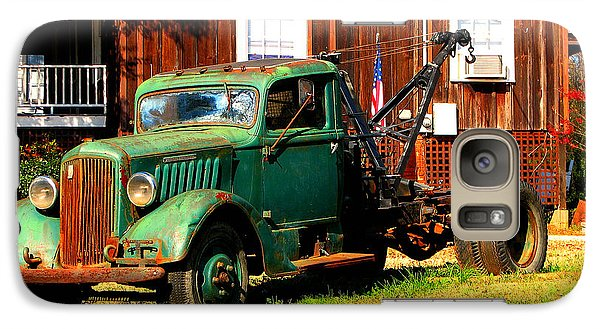 Galaxy Case featuring the photograph Antique Tow Truck by Barbara Bowen