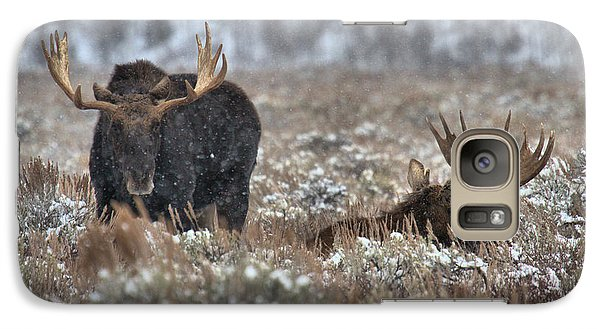 Galaxy Case featuring the photograph Antlers In The Brush by Adam Jewell