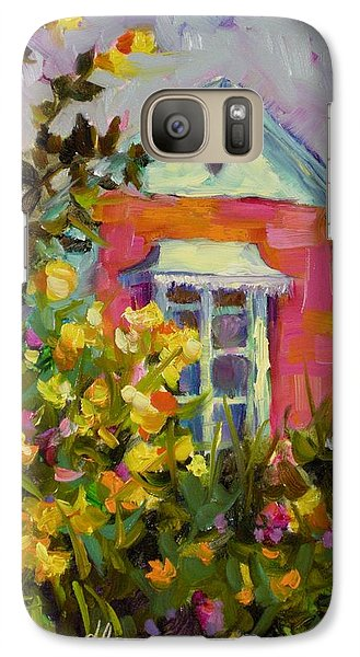Galaxy Case featuring the painting Antoinette's Cottage by Chris Brandley