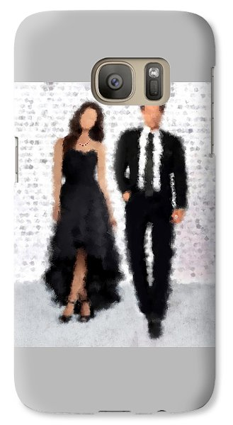 Galaxy Case featuring the digital art Antonia And Giovanni by Nancy Levan