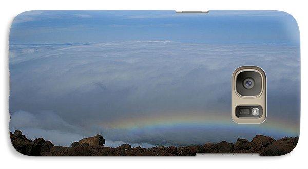 Anuenue - Rainbow At The Ahinahina Ahu Haleakala Sunrise Maui Hawaii Galaxy S7 Case by Sharon Mau