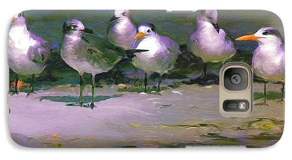 Galaxy Case featuring the painting Any New Gossip by David  Van Hulst