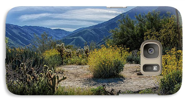 Galaxy Case featuring the photograph Anza-borrego Desert State Park Desert Flowers by Randall Nyhof