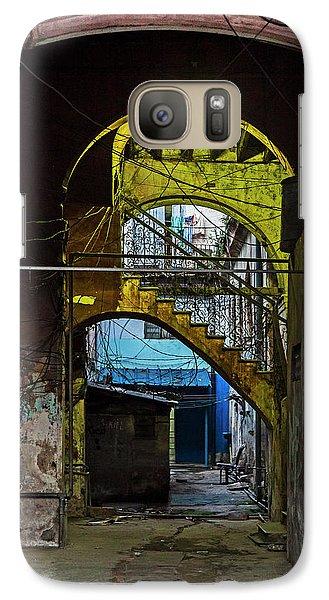 Galaxy Case featuring the photograph Apartment Enrance Havana Cuba Near Calle C by Charles Harden