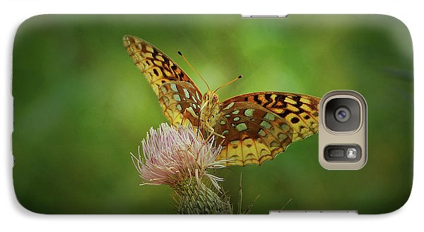 Galaxy Case featuring the photograph Aphrodite Fritillary Butterfly by Sandy Keeton