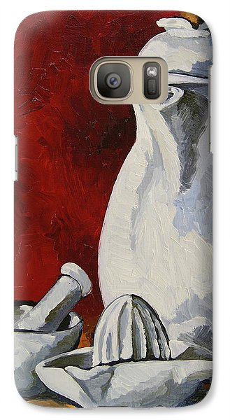 Galaxy Case featuring the painting Apilco No. 4 by Erin Fickert-Rowland