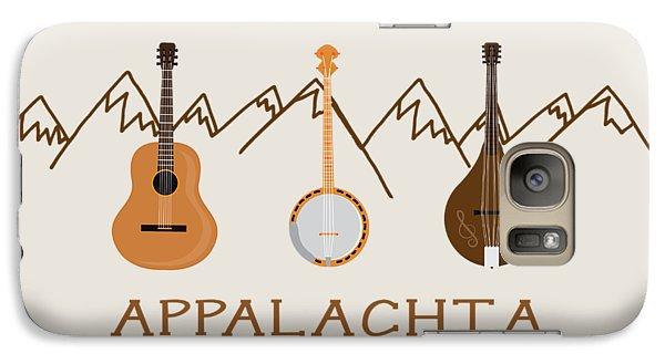 Galaxy Case featuring the digital art Appalachia Mountain Music by Heather Applegate